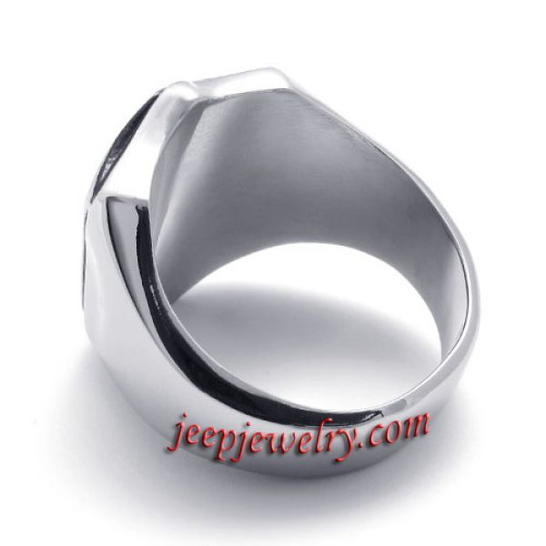 The royal shield stainless steel ring