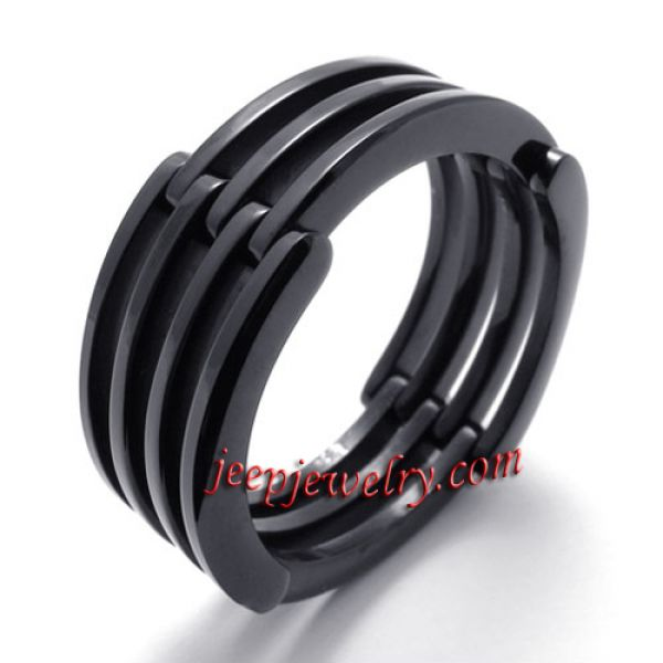 Black stainless steel deformation ring