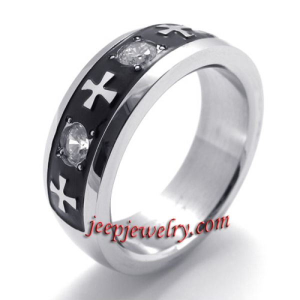 Fashion with stainless steel jewelry ring cross when