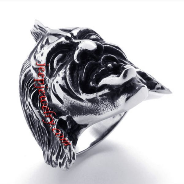 devil head stainless steel ring