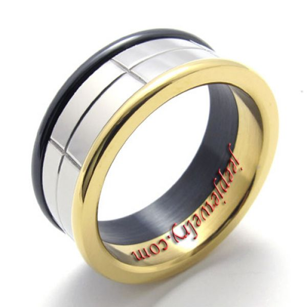 men's fashion simple stainless steel ring