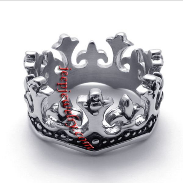imperial crown stainless steel ring
