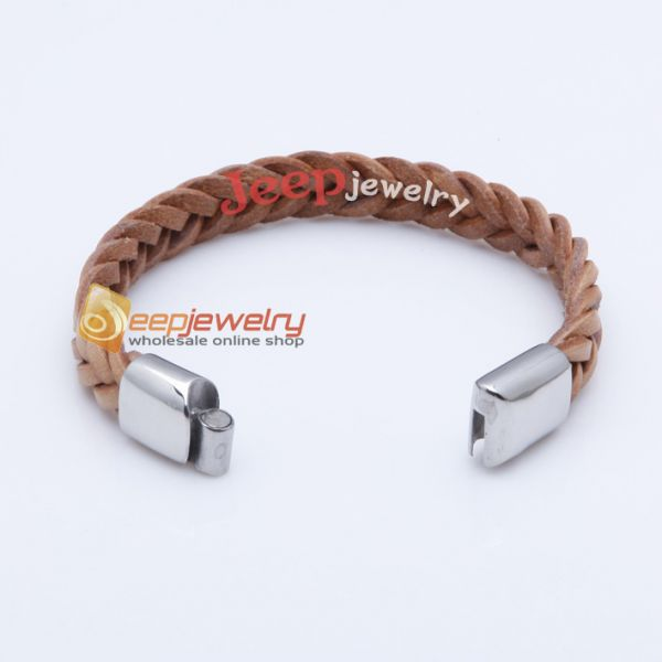 The brown handwork weave cortex bracelet