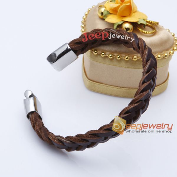 Gorgeous and fashion brown handwork weave cortex bracelet