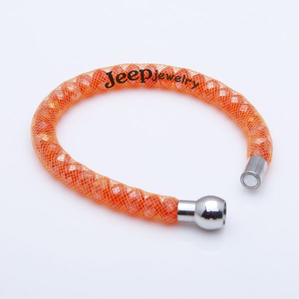 The gorgeous orange bead string woman bracelet