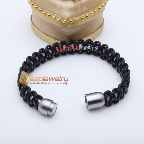 Individuality black handwork weave cortex bracelet