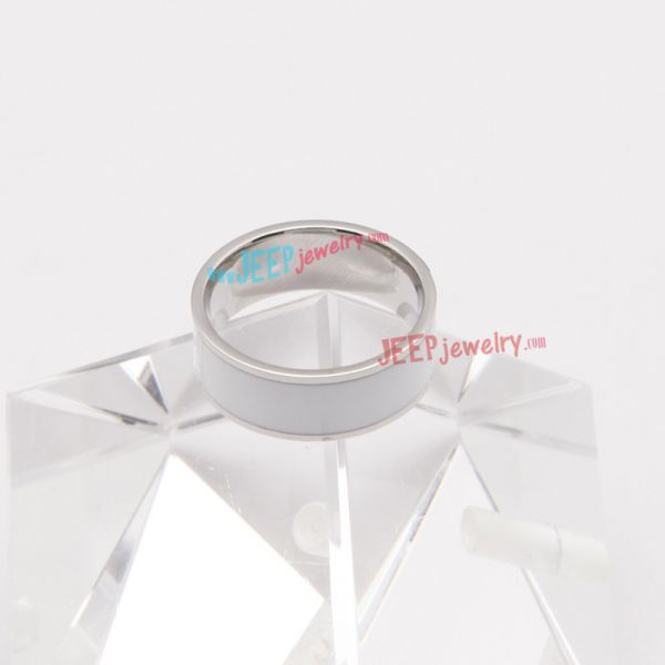 The noble angel wings couple Epoxy stainless steel ring