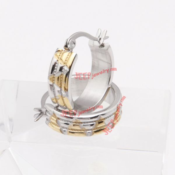luxury gold-plated stainless steel earrings