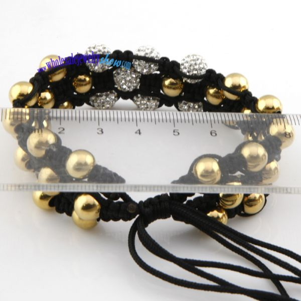 wholesale jewelry fashion special three lines of different beads enlaced by flexible rope bracelets