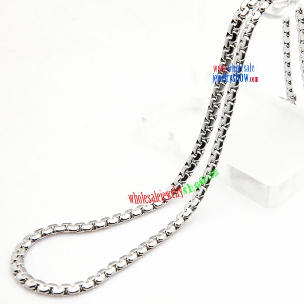 Cute Small Silver Buttons Design of Stainless Steel Necklace Fashion Jewelry Wholesale Distributors