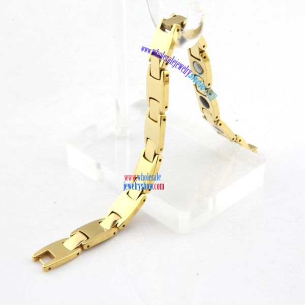 Cool Style Letter T Shape of Golden Tungsten Carbide Bracelets For Men