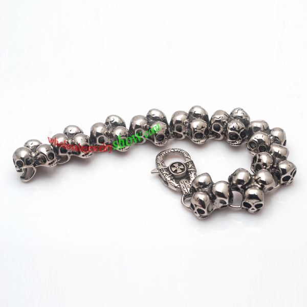 Exaggerated and Cool Style of Silver Skull Family Mens ...