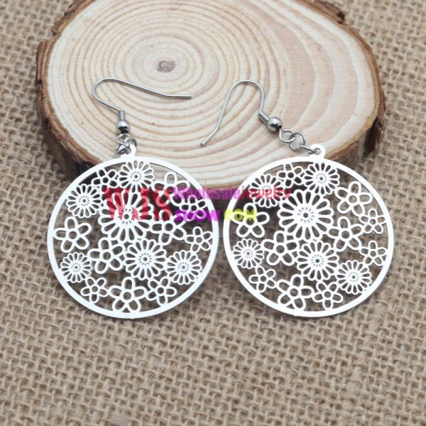 Stainless Steel Multiple Circle Earrings