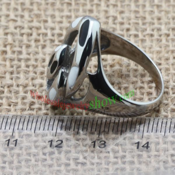 The minimalist shape of ring made of stainless steel