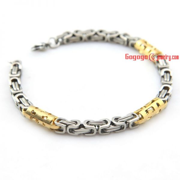 Special shape of choker and bracelet made of stainless steel jewelry set