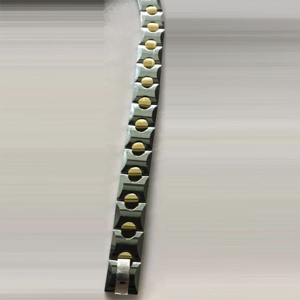Tungsten Bracelet Link Wrist Silver gold Bracelet for Men