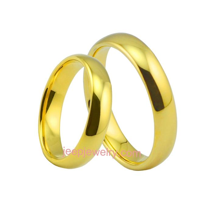 Male ring ring ladies fashion popular tungsten gold ring couple ...