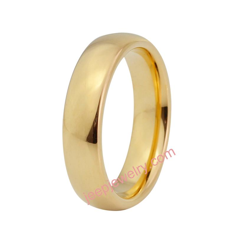Golden tungsten gold couple rings gold ring buddhist monastic