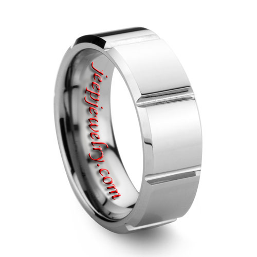 8MM FACETED Amp POLISHED TOUGH EXCELLENT QUALITY TUNGSTEN WEDDING BAND JEEPJEWELRY Wholesale