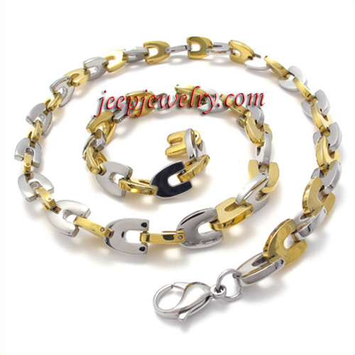 s golden stainless steel thick necklace jeepjewelry