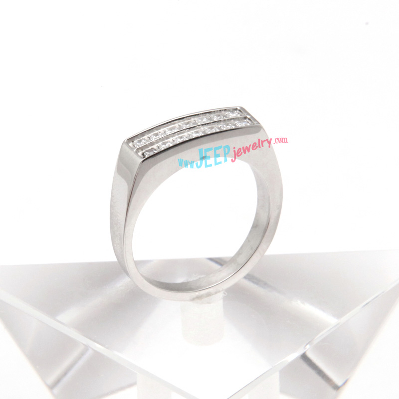 Durable 316l stainless steel irregular shape rectangular for Stainless steel jewelry durability
