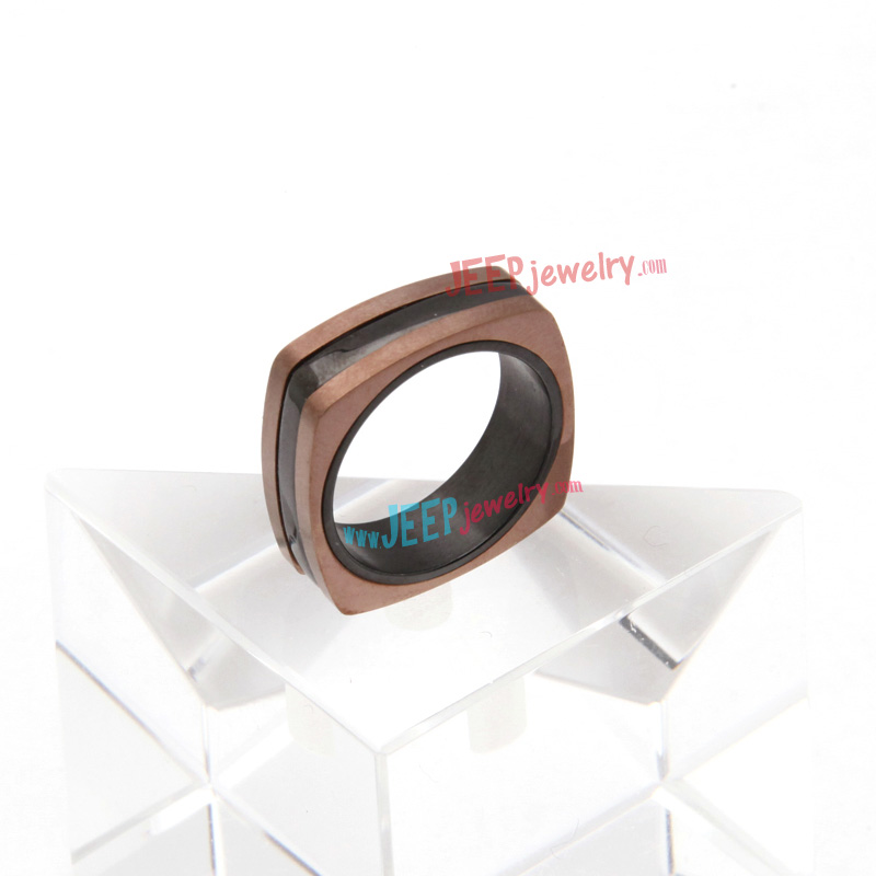 unique square stainless steel ring jeepjewelry wholesale