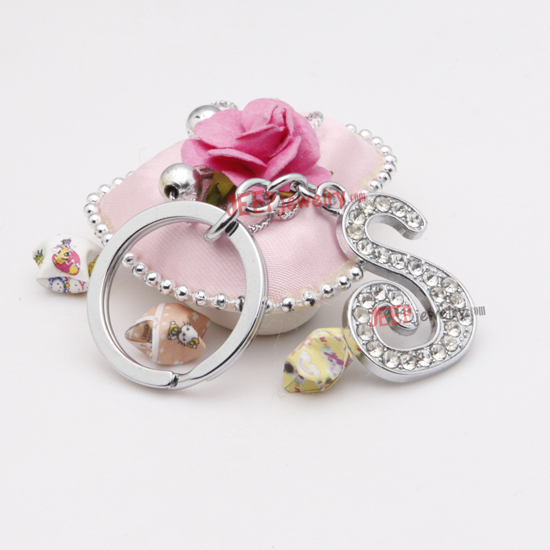 The sparkling diamond word S alloy key ring JEEPJEWELRY Wholesale ...