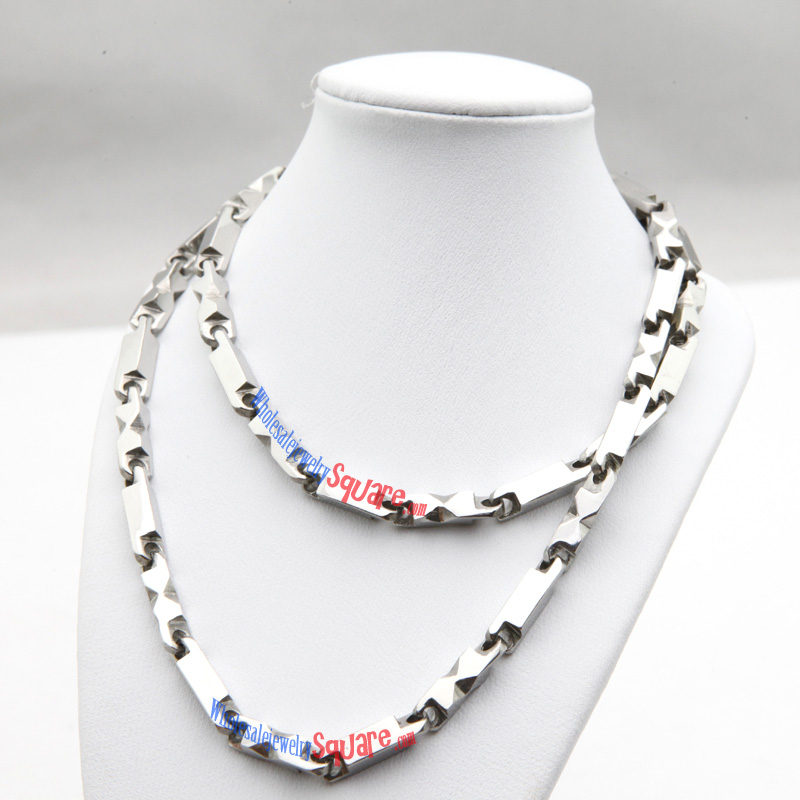Cool Style Silver Chain Design Stainless Steel Necklace Wholesale