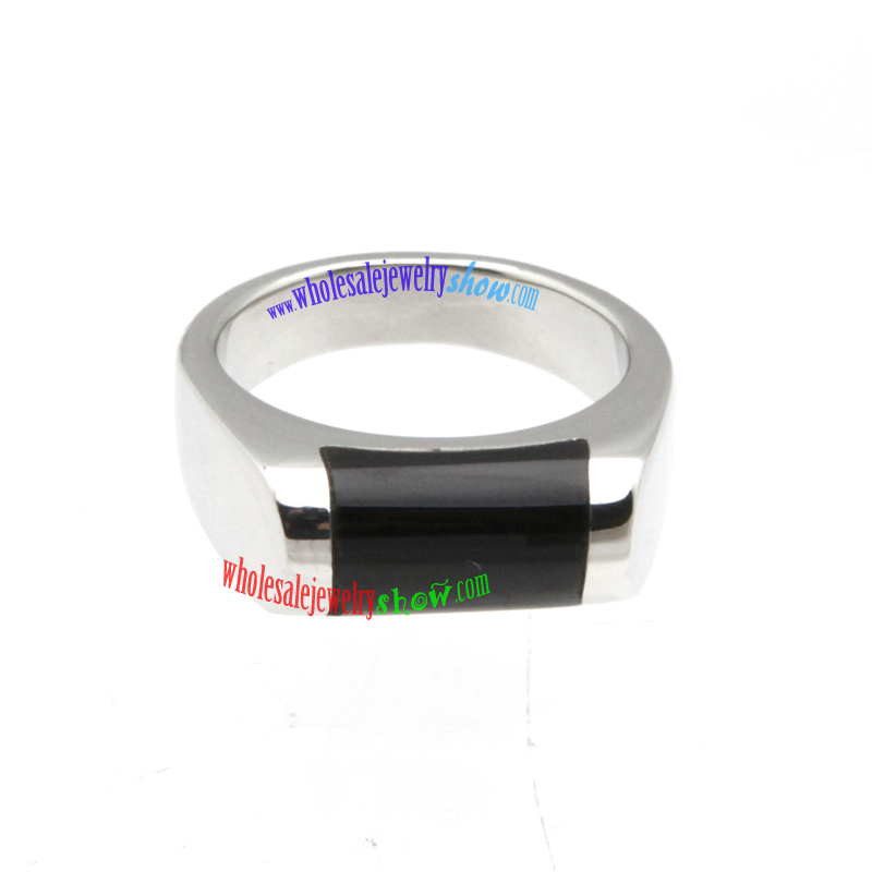simple oblong slender ring special stainless steel