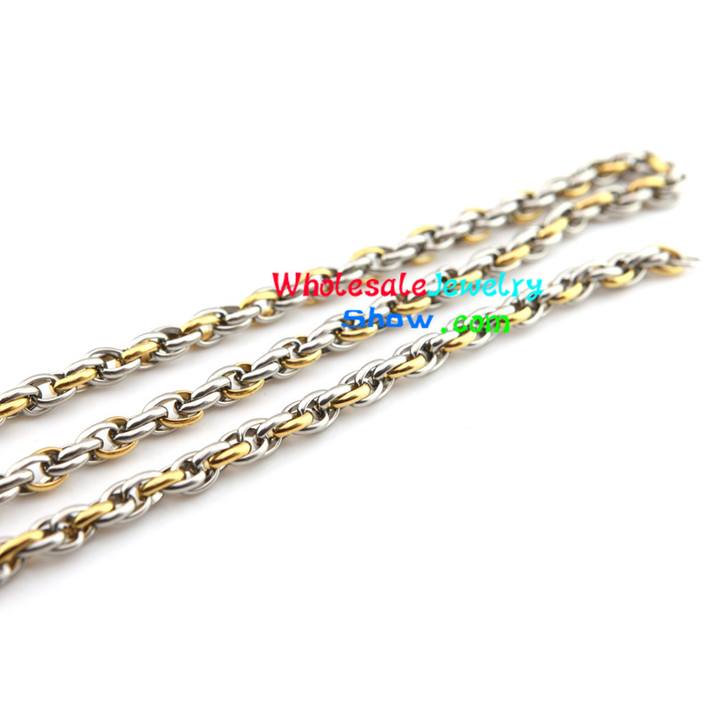 Cool Style Silver & Gold Chain Design of Stainless Steel Bracelet ...