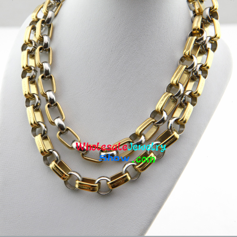 Cool Style Silver Chain Design Stainless Steel Necklace Wholesale ...