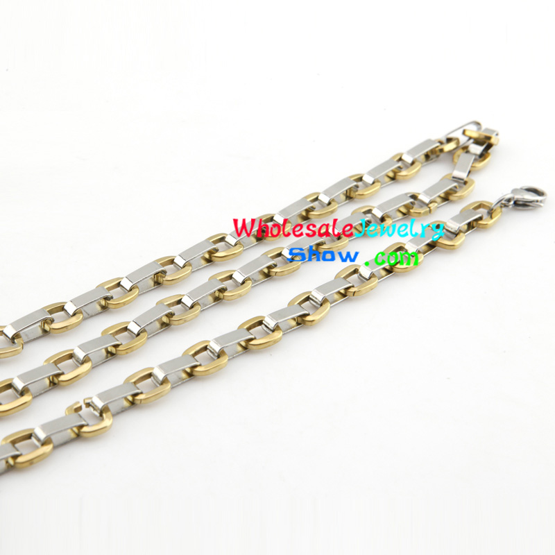 Cool Style Silver & Gold Chain Design of Stainless Steel Mens ...
