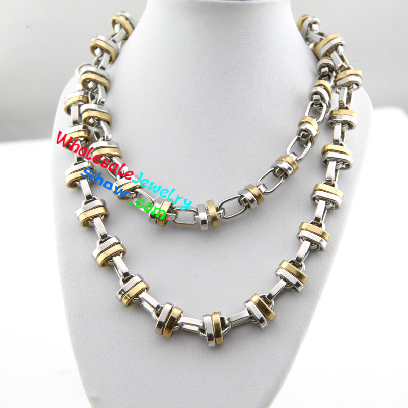 Fashion Cool Style Gold & Silver Chain Design of Men Stainless ...